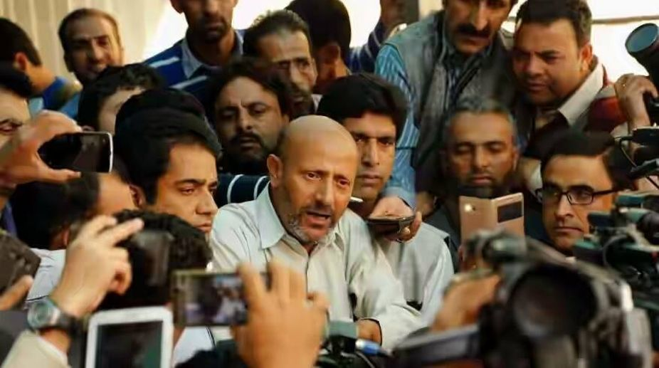 Engineer Rashid protests outside J&K assembly