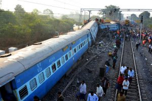 74 injured, four critical, as train derails in UP