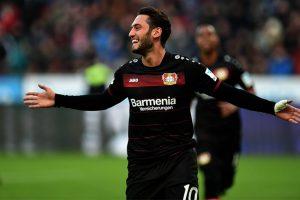 Bayer Leverkusen ride Calhanoglu brace to beat Hertha Berlin