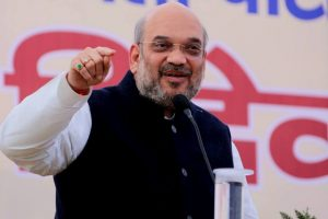 Shah meets union ministers to prepare for Gujarat polls