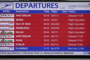 Flights cancelled at London airport for second day