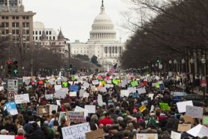 People converge near White House against travel ban