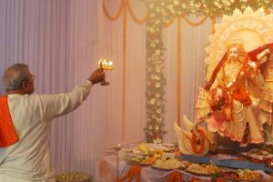 Headmaster faces ire for not organizing puja