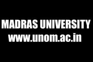 Madras University results 2016 for PG Professional Degree declared at unom.ac.in | Revaluation Window open till February 6