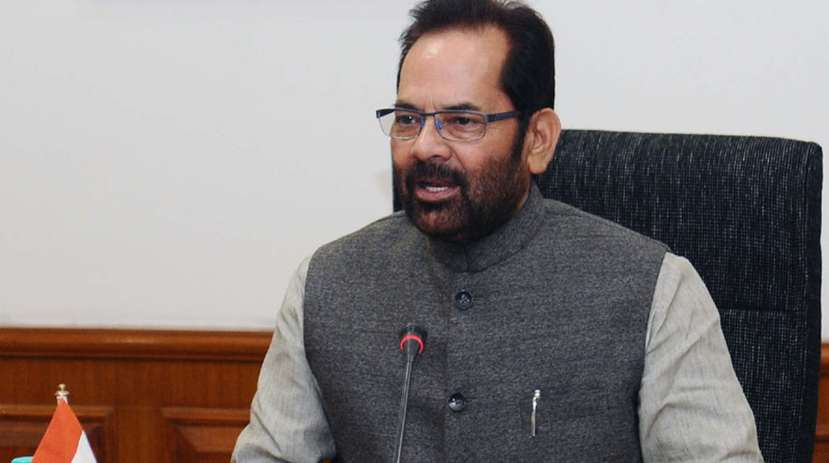 Minority Affairs Minister, Mukhtar Abbas Naqvi, Global tender, shipping firms, Haj