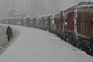 Jammu-Srinagar highway closed after snowfall, rain