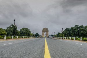 Cloudy Saturday morning in Delhi
