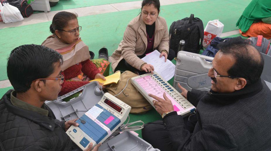 peaceful counting, Himachal Pradesh, Himachal elections 2017, Himchal elections vote counting