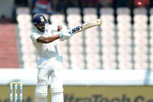 Hyderabad Test, Day 1: Vijay, Kohli drive India to 206/2 at Tea