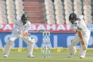 Hyderabad Test: India 620-6 at tea, Kohli falls after double ton