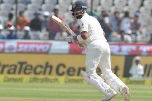 Hyderabad Test: India 620-6 at tea, Kohli falls after double ton