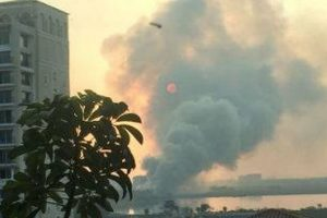 Fire, smoke engulfs Bellandur lake