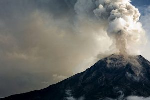 India's only active volcano erupted