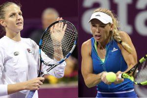 Pliskova to play Wozniacki in Qatar final after long, soggy day