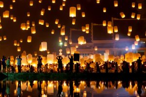 Taiwan lanterns cast a spell