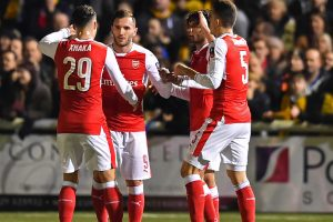 FA Cup: Walcott hits 100 as Arsenal brush aside Sutton United