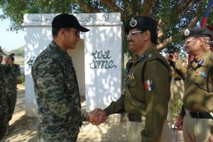 BSF, Pakistan Rangers meet at Jammu border