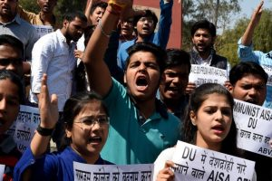 Ramjas College violence: ABVP carries out 'Tiranga march'