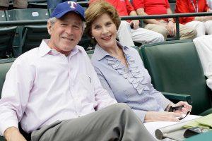 George W Bush breaks silence on Trump