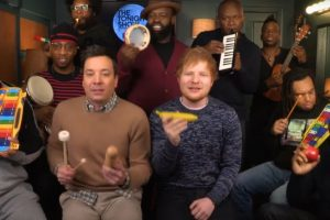 Ed Sheeran performs 'Shape of You' with classroom instruments