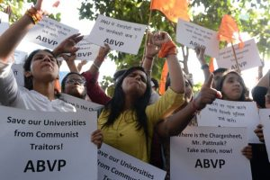 ABVP holds protest march in Delhi University
