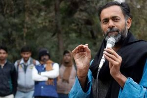 Yogendra Yadav cries foul as college postpones event