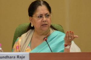 Raje government completes four years, outlines welfare schemes