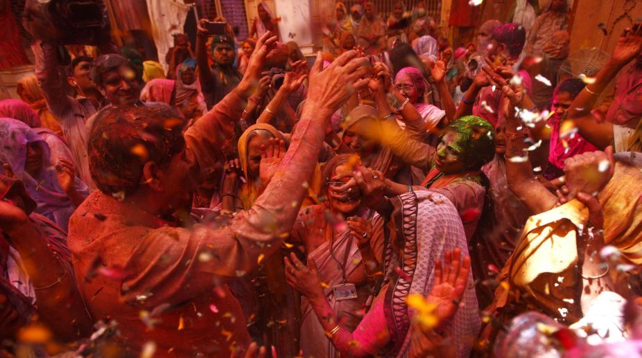 Capture the colourful spectacles of Vrindavan widows this Holi