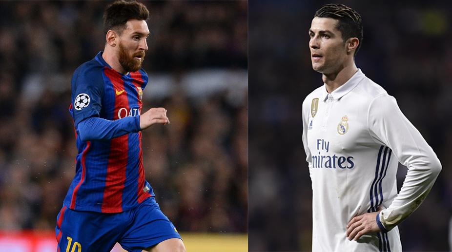 Lionel Messi (L) and Cristiano Ronaldo (R) (Photo: AFP)