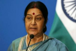 Sushma returns to LS; makes statement on US attacks