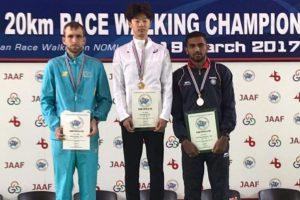 KT Irfan wins bronze at Asian 20km Race Walk Championships