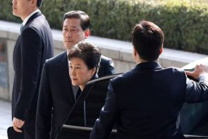 Ousted S Korean president says sorry to people