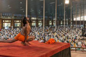 Baba Ramdev training women for Yoga outreach