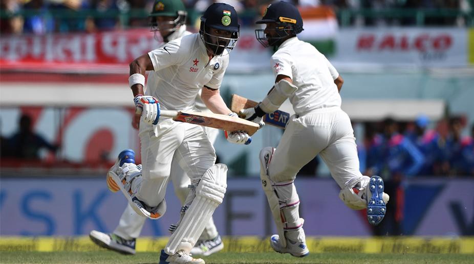 KL Rahul (L) and Ajinkya Rahane (Photo: AFP)