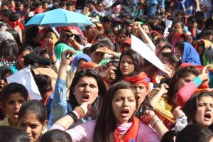ABVP stages massive protest against govt in Shimla