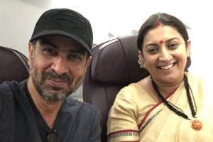 When Smriti Irani bumped into her on-screen husband!