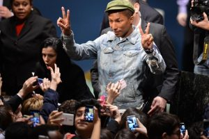 Pharrell Williams visits elephant care centre in India