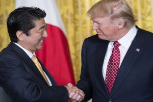 Trump, Abe discuss promoting free and open Indo-Pacific region