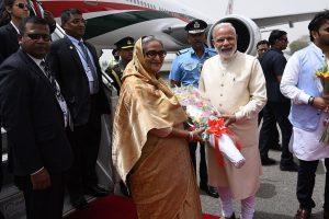 PM Modi receives Bangladesh PM Sheikh Hasina at Delhi airport