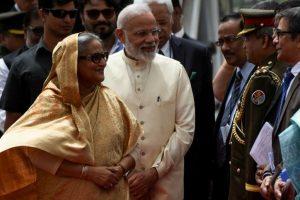 Bangladesh PM  Sheikh Hasina accorded ceremonial welcome