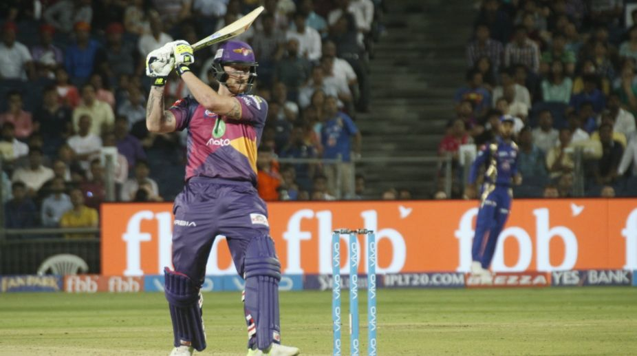 IPL 2017: Ben Stokes' fifty help Supergiant reach 163/6 against KXIP