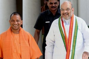 Adityanath discusses administrative issues with Amit Shah, Modi