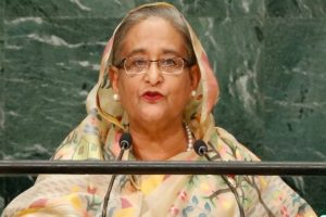 Bangladesh's PM at UN urges 'safe zones' for Myanmar's Rohingyas