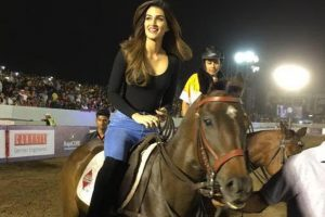Kriti Sanon's horse riding on a roll