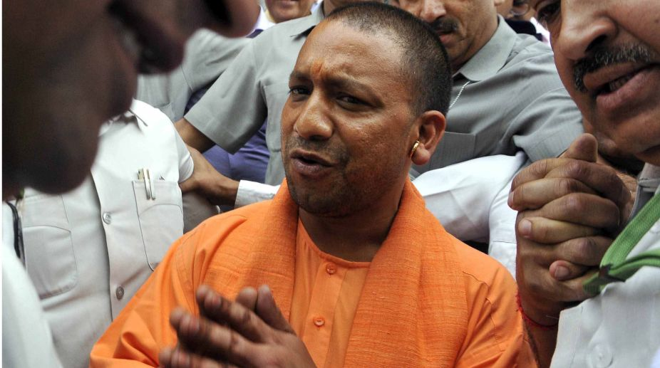 Man tries to jump before Yogi's car over illegal mining