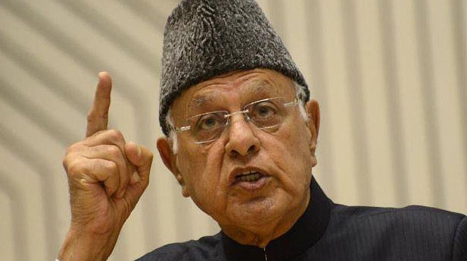 Farooq Abdullah. Former JK CM, Rajnath Singh, Kashmir issue, NC President