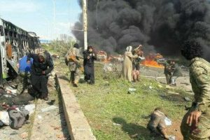 70 killed in blast targeting transit point for Syrian evacuees