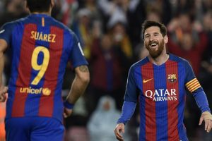Lionel Messi strikes a double to keep Barcelona alive for La Liga title