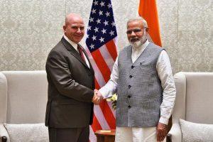 US National Security Adviser HR McMaster meets PM Narendra Modi
