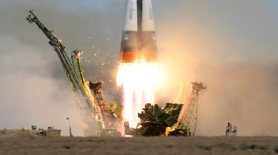 Soyuz spacecraft blast